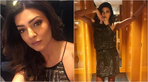 Sushmita Sen DAZZLES in this shimmery black dress  #Blog