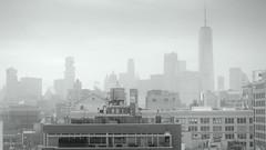 Misty New York (PeterCH51) Tags: usa us newyork ny newyorkcity nyc manhattan mist misty bw blackandwhite monochrome peterch51 city cityscape meatpackingdistrict fog foggy urban urbanlandscape urbanarchitecture architecture