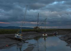 Solitude   (Explored 18/9/17) (markrd5) Tags: sunrise wirral heswallshore sheldrakes water flow river cloudscape nikon1024mm leefilters