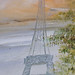 Painted Eiffel Tower