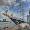 Sailing ship Eendracht docked at the quay in Rotterdam (CapMarcel) Tags: sailing ship eendracht docked quay rotterdam hdr panorama photo wilhelminapier kade