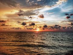 Cartagena. (m r. t o u c h) Tags: sunset sun sea landscape sky skyscape panorama horizon clouds heaven colombia cartagena waves trip