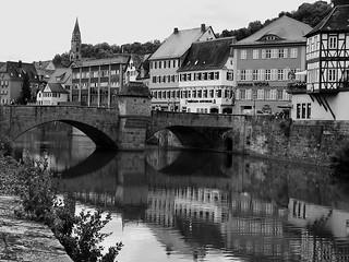 GERMANY, Schwäbisch Hall /Hohenlohe,Henkersbrücke, 75425/8872