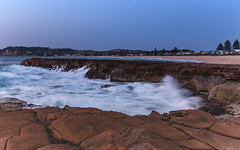 Rocky Dawn Seascape (Merrillie) Tags: daybreak rockshelf sand landscape northavocabeach headland avocabeach newsouthwales rocks centralcoast nsw earlymornings beach scenery sea rocky dawn seascape nature outdoors waterscape rockplatform coast water australia