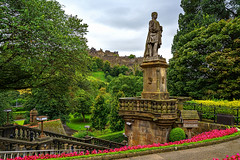 The Castle from West Princes Street Gardens (MilesGrayPhotography (AnimalsBeforeHumans)) Tags: architecture auldreekie autumn a7ii 1635 fe1635mm sonyfe1635mmf4zaoss britain allanramsay poet statue city cityscape castle castlerock westprincesstreetgardens gardens edinburgh europe edinburghcastle fe f4 gardenerscottage cottage historic iconic ilce7m2 landscape lens monument memorial outdoors old oss oldtown photography photo ruins rocks rain scotland skyline sky scenic sonya7ii sony sonyflickraward town trees uk unitedkingdom volcano volcanic historicscotland