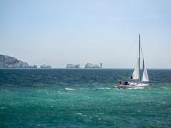 The Needles (Matthew_Hartley) Tags: needles lighthouse boat boats isleofwight milfordonsea milford hampshire england uk britain panasonic g3 microfourthirds m43 vario 45200 45200mm
