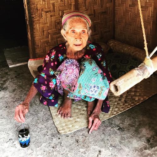 Beautiful old woman @ Sade Sasak Village, Lombok