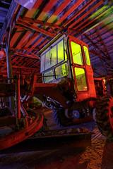 RGB Wheel Tractor Scraper (Notley Hawkins) Tags: missouri notley notleyhawkins 10thavenue httpwwwnotleyhawkinscom missouriphotography notleyhawkinsphotography ruralphotography light lightpainting greenlight green night nocturne midwest ruralusa evening blue bluelight red redlight rgblightpainting coopercountymissouri longexposure 2017 wooldridgemissouri tractor wheeltractorscraper