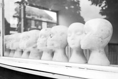 smooch (Cogitozoa) Tags: portsmouth heads mannequin window reflection monochrome bw blackandwhite street pentax mx smc 35mm film analogue analog kodak colorplus expired filmisnotdead shootfilmstayhappy ishootfilm thisiswhyishootfilm wander smooch
