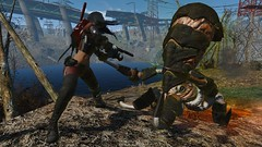 Fallout4 - Tentacle strike ... (tend2it) Tags: fallout4 fallout 4 rpg game pc ps4 xbox screenshot screenarchery reshade postprocessing injector nuclear apocalyptic future cosmo squid ms abominations mod monster elize main character spraynpray nanosuit nukacola suit tentacle attack
