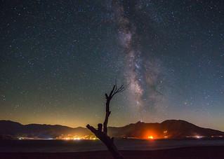 Milky Way Over Lake Isabella