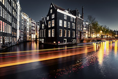 Amsterdam (EtienneR68) Tags: city houses ville landscape blue bleu colors eau water marque a7r2 a7rii sony type nightshot amsterdam