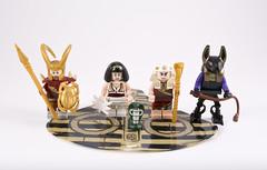 Egyptian House of Eaeman Rah (Hammerstein NWC) Tags: lego tlc tlg minifigs figbarff custom figbarf egyptian anibis pharaoh asp nefertiti anubis godofdeath
