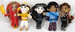 Writing Character Dolls (merigreenleaf) Tags: writing fantasyart fantasywriter fantasywriting dolls plushies artdoll crochet crocheted artist carnivalperformers fantasy