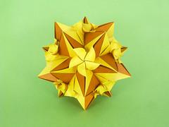 Fuchsia (masha_losk) Tags: kusudama кусудама origamiwork origamiart foliage origami paper paperfolding modularorigami unitorigami модульноеоригами оригами бумага folded symmetry design handmade art
