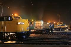 Side Profile (GLC 392) Tags: cnw chicago northwestern railroad railway train ge c449w alco rsd5 emd sd402 union il twilight irm illinois museum 8646 6847 4160 411 gp7 f7 commuter engine 1689 smoke fog lights line up side profile