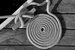 Coiled (David C. McCormack) Tags: artistic blackwhite bw blackandwhite boat eos eos6d greatlakes harbor lakemichigan lakefront lake midwest monochrome pier recreation wisconsin water yacht sailboat