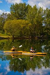 Sunny Days (stevenbulman44) Tags: kayak row summer landscape water reflection calgary canon 70200f28l filter polarizer