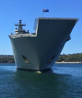 HMAS Adelaide L01 , Sydney Harbour . 27/3/17