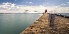 Poolbeg (mariuszpe) Tags: poolbeg poolbeglighthousedublin lighthouseireland dublinport landscape nd longshutter canon5dmk2 1740f4 lighthouse pier marina circularpolarisingfilter mariuszpe poolbegmarina