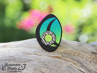 Polymer clay ring by Mountain Pearls