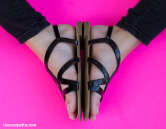 Black Strappy Flat Sandals (TheScarpetta) Tags: shoes footwear fashion fashionpictures fashionmodels boots sandals heels pumps flats