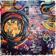 I Must Not Write On Walls #1 (firstnameunknown) Tags: iphoneography hipstamatic bristol bedminster upfest urban art graffiti mural streetart weareallimmigrants imustnotwriteonwalls