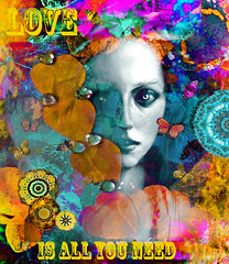 Love Is All You Need (virtually_supine) Tags: minichallenge17summerofloveexploreworthygroup 1960sstyleart psychedelic vivid flowers butterflies hippygirl hearts kaleidoscopes mandalas text quote thebeatlesallyouneedislove collage montage textures layers creative photomanipulation digitalartwork 1967 inexplore