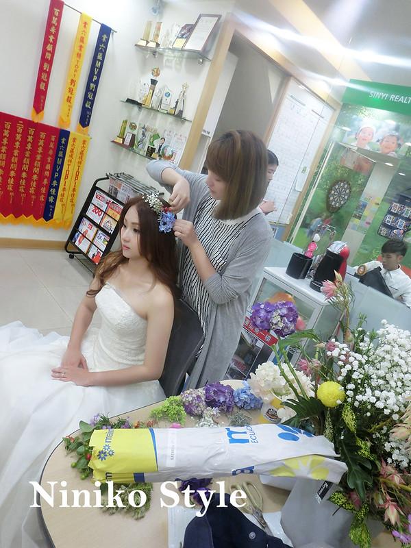 自助,婚紗,髮型,簡約浪漫,小林婚攝,綠葉工作室