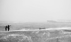 sea life (photoksenia) Tags: winter sea beach snow bw blackandwhite blacksea people
