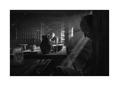 Morning at the pub II (Jan Dobrovsky) Tags: morning leicaq monochrome pub blackandwhite indoor people light thepaintedbirdmovie human document mood story