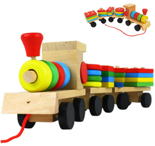 Free-Shipping-Baby-Toys-Educational-Wooden-Toys-Kids-Wooden-Stacking-Train-Blocks-Baby-Early-Learning-Toys