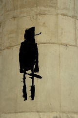 A Faceless Man (LookSharpImages) Tags: lime oregon limeoregon abandoned abandonedspaces facelessman graffiti