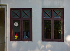The Moon in the Room (Steve Taylor (Photography)) Tags: moon pokémon pokemon hat xmas christmas art digital toy architecture pipe window door brown yellow red white asia city singapore pikuchu