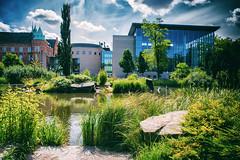 Malmö City Library (Maria Eklind) Tags: moln himmel park malmöstadsbibliotek malmö sky nature kungsparken citylibrary sweden slottsparken citypark library outdoor clouds skånelän sverige se