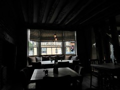 Bar area and bow window, Lavenham Greyhound, Lavenham, Suffolk (Paul McClure DC) Tags: lavenham suffolk england britain westsuffolk eastanglia aug2017 historic architecture