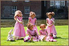 Kindergartenkinder ... (Kindergartenkinder) Tags: schlossanholt dolls himstedt annette park kindergartenkinder sommer wasserburg annemoni margie sanrike leleti tivi milina isselburg garten