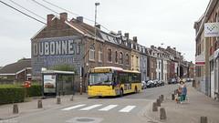 Flémalle, Grand' Route (Tim Boric) Tags: flemalle grandroute bus autobus tec vdl citea halte stop muurreclame mural ad dubonnet