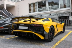 SV Roadster (Nico K. Photography) Tags: lamborghini aventador lp7504 superveloce roadster nicokphotography yellow supercars rare switzerland lenzerheide