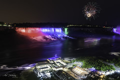 Niagara Nights (Alec_Hickman) Tags: niagara falls waterfall ontario canada canada150 celebration fireworks water river landscape night longexposure lights beauty nature