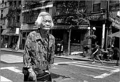 It's Chinatown (Steve Lundqvist) Tags: new york usa states united america manhattan stati uniti travel trip bw urban city urbanscape ny nyc monochrome loner black white background broadway downtown depth street photography streets poverty pike place people portrait homeless monocromo persone ritratto expression streetphotography candid ghetto art bruce gilden vivian maier world outside chinatown china chinese old woman fujifilm x100s