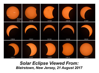 Solar Eclipse, Blairstown, New Jersey, 21 August 2017
