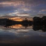 Sunset over a lake - Landscape thumbnail