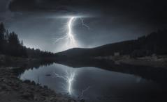 Rhodope lake (ИвайлоВеликов) Tags: lake forest mountain storm flash bulgaria emerald moraine bohinj lakeside mirror reflection valley ten peaks almsee eibsee ngc