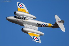 Enter the jet age! (Ian Garfield - thanks for over 2 million views!) Tags: gloster meteor ian garfield wa591 t7 classic air force royal whittle photography cosby victory show reenactment re enactment world war two replica militaria airplane aircraft vehicle outdoor jet