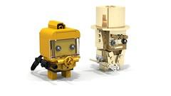 Brickheadz Minifigure Collection Stars (lewissmith1) Tags: brickheadz lego minifigure collection mrgold mr gold hazmatguy hazmat guy collectible
