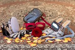 Sapatos (Leonardo Martins) Tags: makingoff nathália makeup macro studio acaradariqueza sapato shoe flor flower rosa rose joia jewel reflexo reflection pétala petal vermelho red tapete tapestry