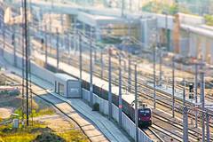 Lets Play (CoolMcFlash) Tags: train tracks vienna miniature tiltshift city focus dof urban transport canon eos 60d schienenweg geleise zug wien effect stadt fokus tiefenschärfe fotografie photography tamron b008 18270 bahnhof hauptbahnhof