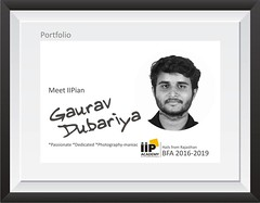 Meet Gaurav Dubariya | BFA 2016-2019 | Hails from Rajasthan (iipimages) Tags: portfoilo profile professionals iipacademy iip photographer freelancer artist passionate dedicated creative tuesdaymotivation rajasthan studygram delhigram indianstituteofphotography indiaclicks indianpictures soi noida photographymaniac