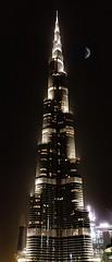 "Burj Khalifa..... 🌛 (ravijaichand) Tags: moon burjkhalifa uae dubai worldtrekker ""flickrtravelaward"""